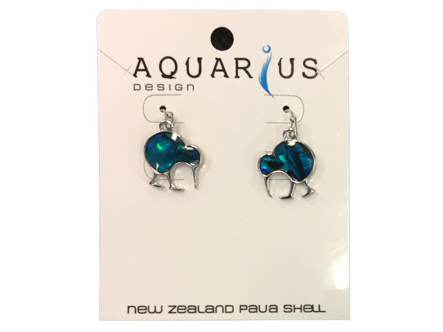 Blue PAUA Earring - Walking KIWI