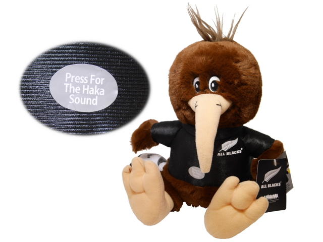 All Blacks SOFT TOY KIWI HAKA SONG BROWN MEDIUM