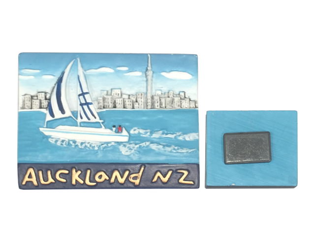 Rectangle, AUCKLAND YACHT NZ style Resin Magnet