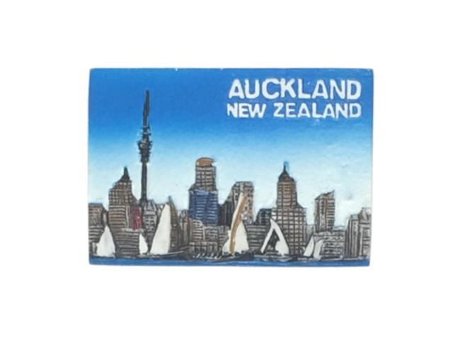 Rectangle, AUCKLAND city style Resin Magnet