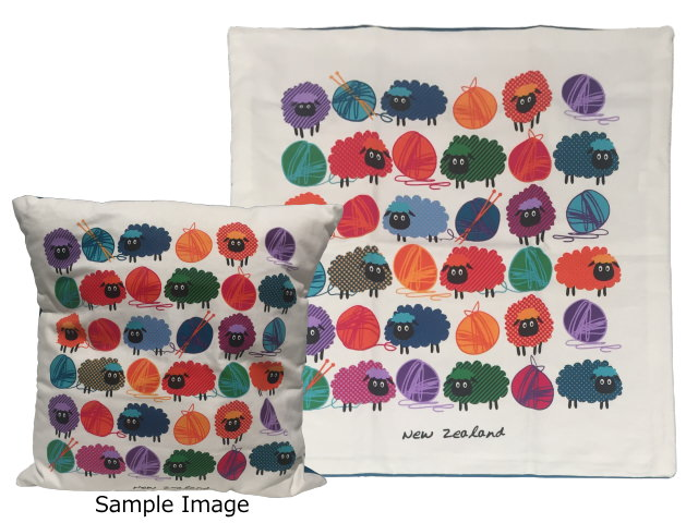 CUSHION COVER - WOOLLY BRIGHT