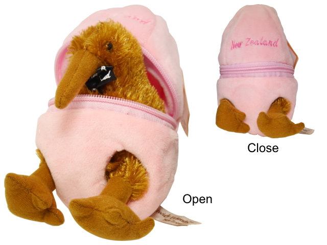 SOFT TOY KIWI IN EGG PINK