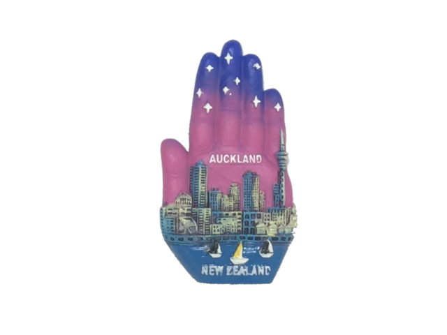 Hand shape, Auckland city style Resin Magnet