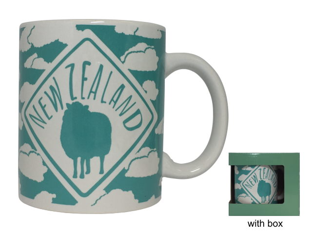 MUG CUP BLUE SHEEP