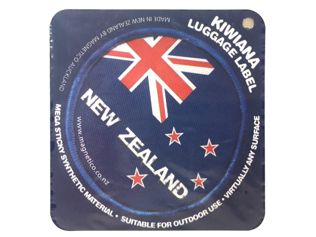 STICKER FUNKY LUGGAGE LABEL NZ FLAG