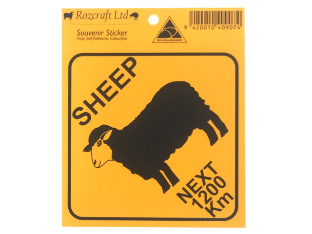 STICKER SHEEP 9CM
