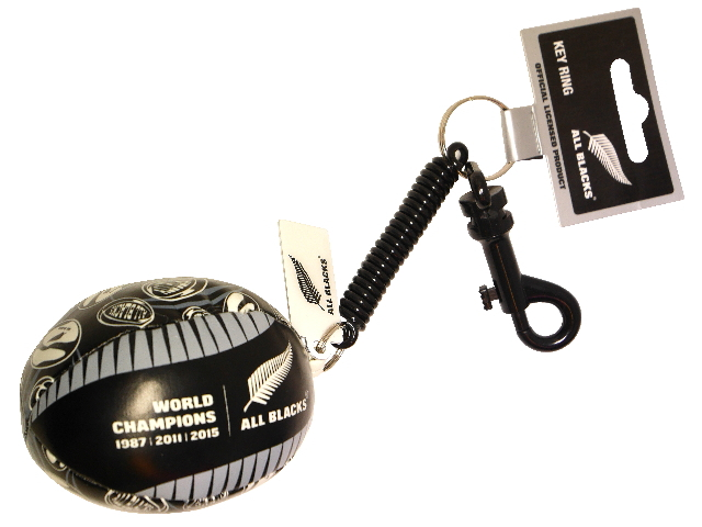 All Blacks KEYRING BUNGEE BALL