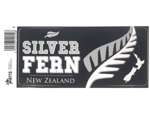STICKER VINYL SILVER FERN