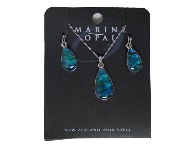MARINE OPAL SET TEARDROP