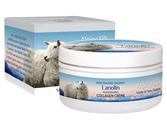 ALPINE SILK ORGANIC LANOLIN COLLAGEN CREME 100g