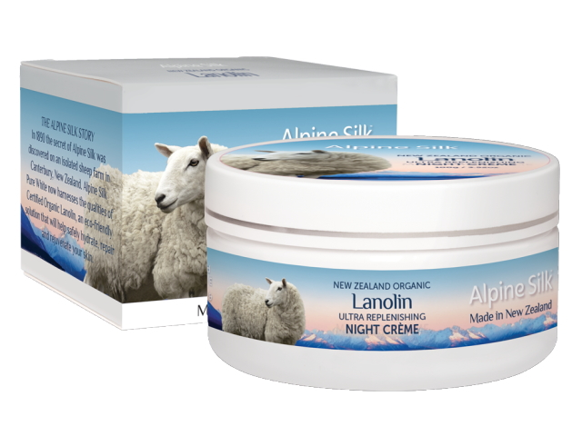 ALPINE SILK ORGANIC LANOLIN NIGHT CREME ULTRA