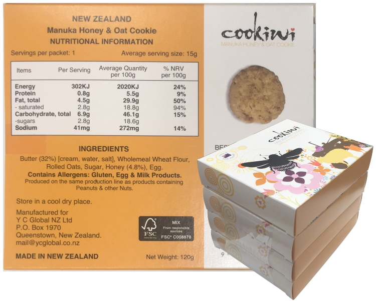 4PK set Manuka Honey & Oat Cookie (120g)