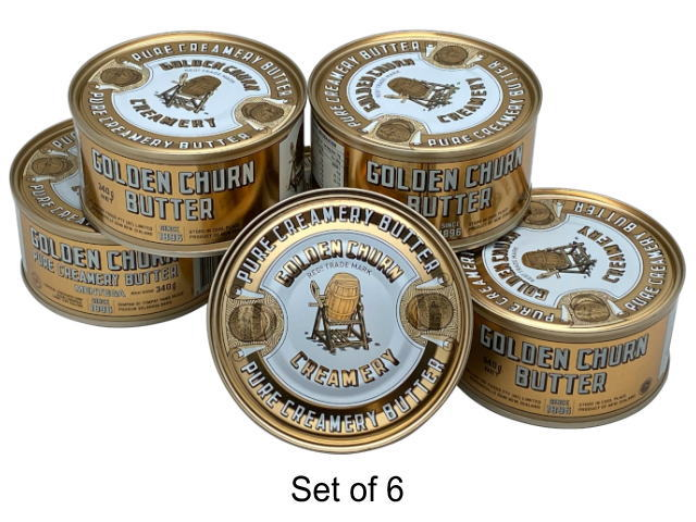 GOLDEN CHURN PURE CREAMERY BUTTER (6 x 340g)