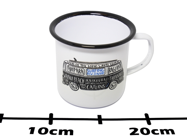 ENAMEL MUG NZ SURFING