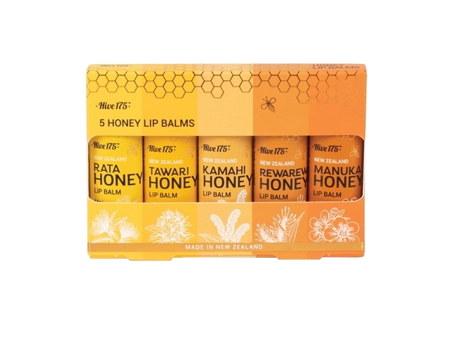 HIVE175™ HONEY LIP BALM 5 PACK (4.5g X 5)