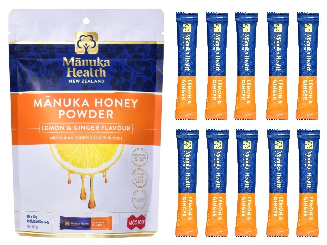 MANUKA HONEY POWDER LEMON & GINGER