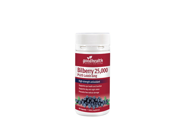 Bilberry 25,000mg Plus Lutein 6mg (60caps)