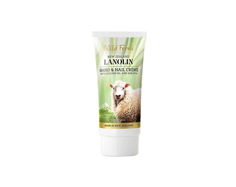 Lanolin Hand and Nail Creme with Rosehip Oil and Keratin (85ml)