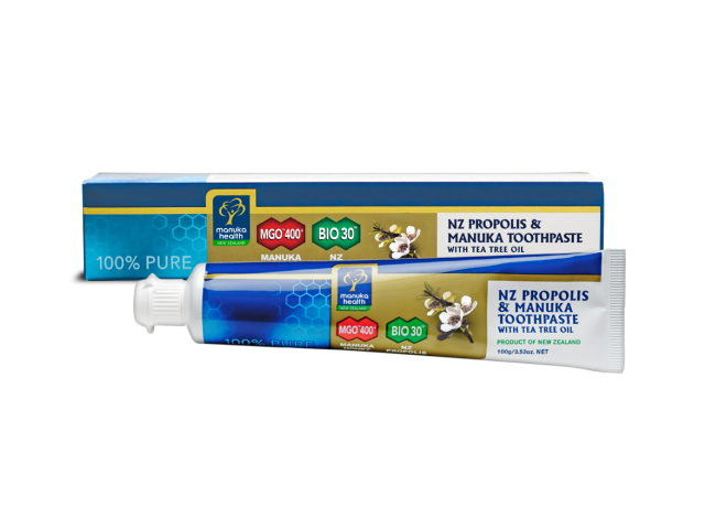 Propolis & Manuka Honey Toothpaste with Tea Tree Oil (100g)