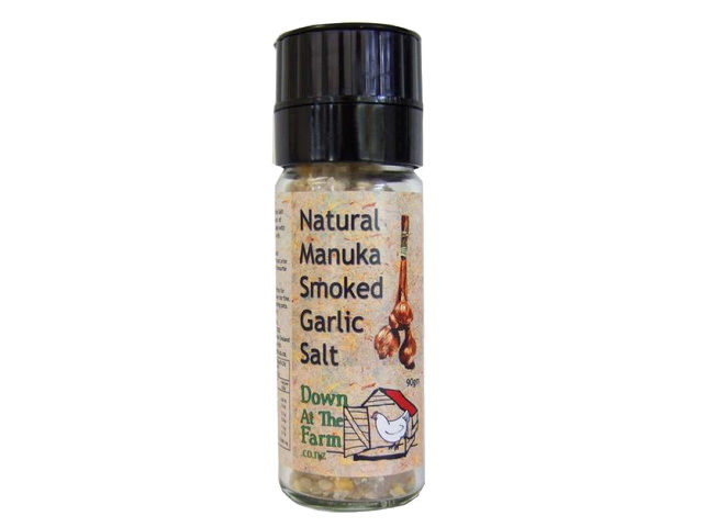 Manuka Smoked Garlic Salt Grinder (90g)